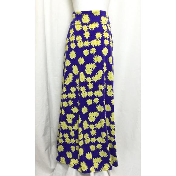LuLaRoe Dresses & Skirts - Lularoe maxi skirt size small blue yellow daisies